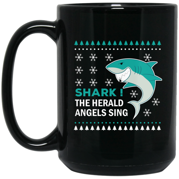 Shark The Herald Angels Sing Shark Christmas Mug
