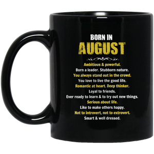 August Girl Mug Born In August Mug August Mugs 15Oz