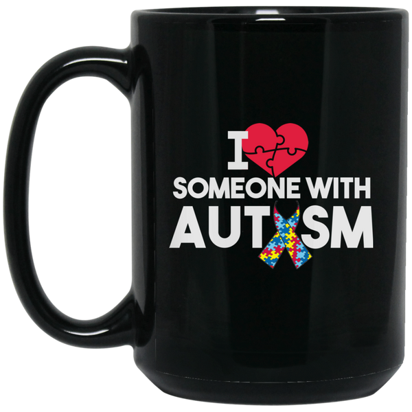 Autism Mug I Love Someone With Autism Mug Autism Ribbon