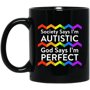 Autism Awareness Mug Society Says I'm Autistic Kids Autism Mug