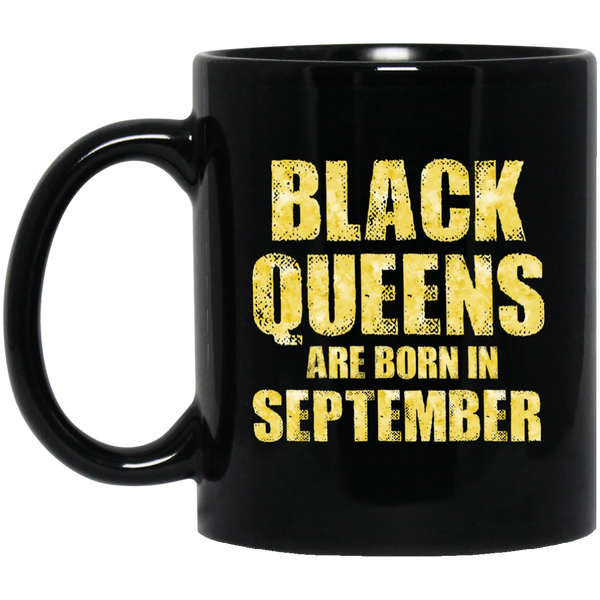 Black Queens Are Born In September Funny Birthday Gift