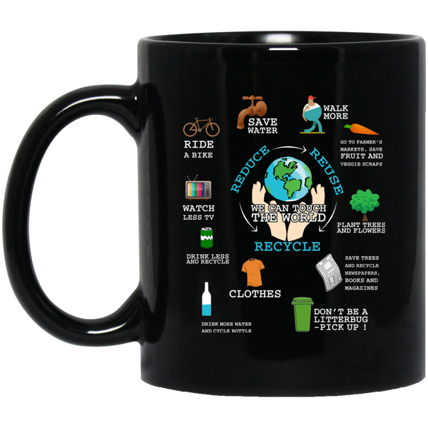 Earth Mugs Reduce Reuse Recycle We Can Save The Earth Mug