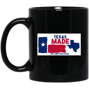 Texas Made License Plate Mug Texas Made Mug Texas Flag Mug