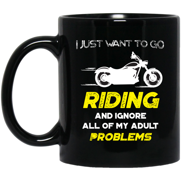 Motorcycle Mugs For Men Funny I Just Want To Go Riding
