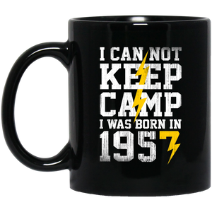 Camping Funny Mug Born In 1957  1957 Birthday Gifts