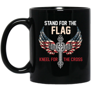 Christan Mugs Stand For The Flag Kneel For The Cross