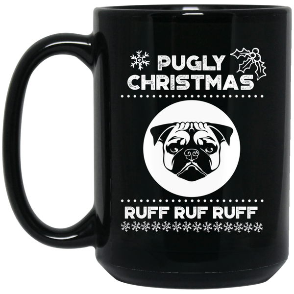 Funny Pug Christmas Mug Merry Pug-Mas Dog Graphic Mug