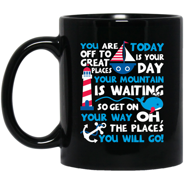 Dr. Seuss Mug Funny Quote Mugs You'Re Off To Great Places Today Is Your Day