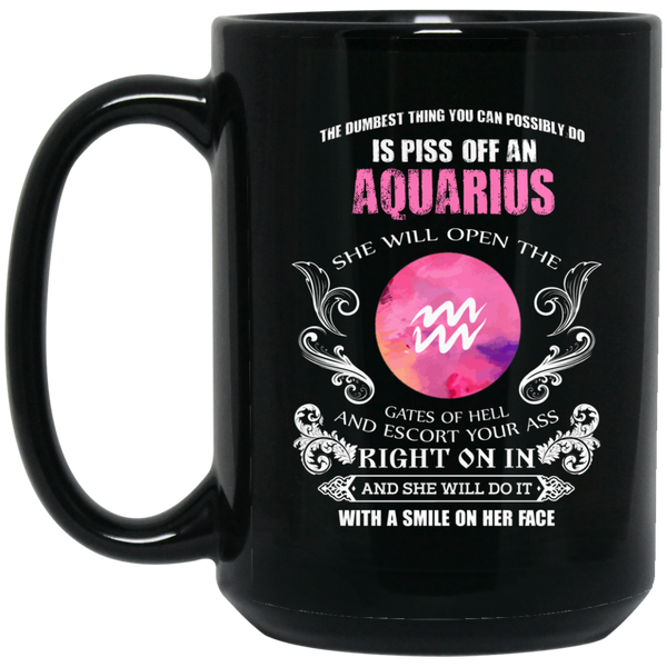 Aquarius Zodiac Mug The Dumbest Thing Aquarius Womens Mug