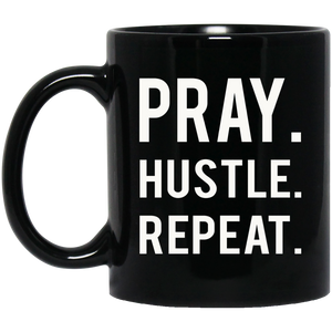 Christan Mugs Hustle Hard Pray Harder Mug