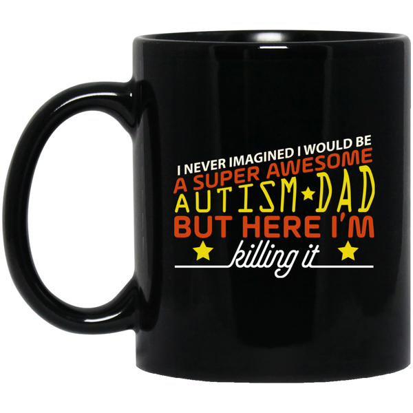 Autism Dad Mug Autism Awareness Mug Super Dad Mug Funny Superhero Father'S Day Mug