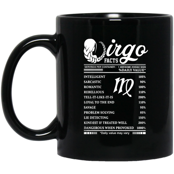 Virgo Facts Mug Virgo Awesome Zodiac January Mugs 15Oz