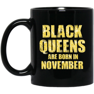 Black Queens Are Born In November Funny Birthday Gift