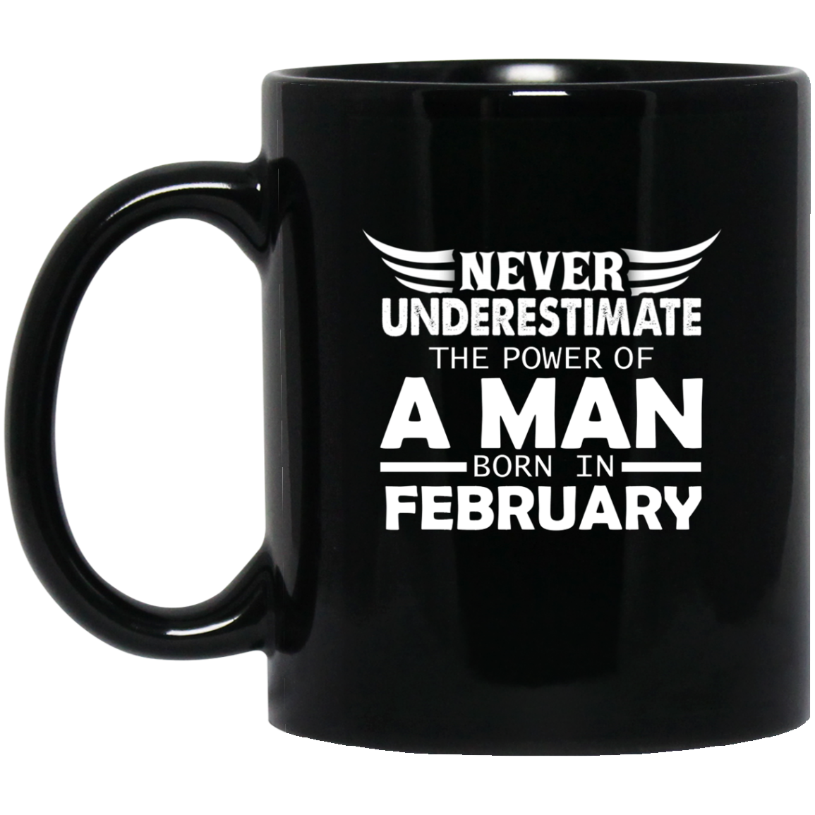 Never Underestimate The Power Of A Woman Man February Born Mug