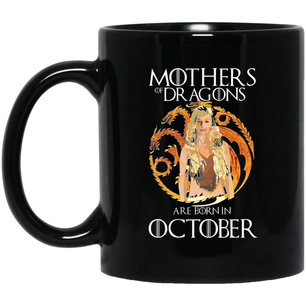 Mother Dragon Mug October Born Mug October Mugs 15Oz