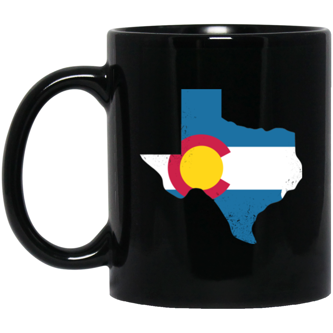Texas Colorado Flag Mug