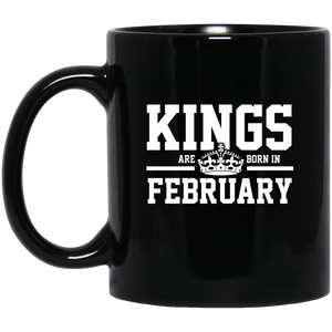 Kings Are Born In February Mug Funny Birthday Gifts For Women