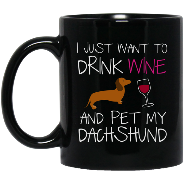 Dachshund Lover Gifts For Womendrink Wine And Pet My Dog