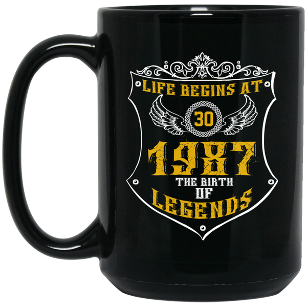 Life Begins At 30 July 1987 30th Birthday Gifmug Mug