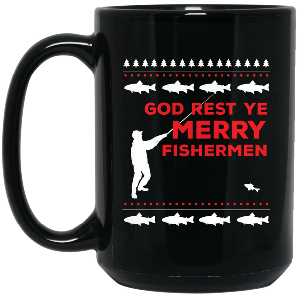Funny Christmas Mugs Fisherman God Funny Fisherman Mug