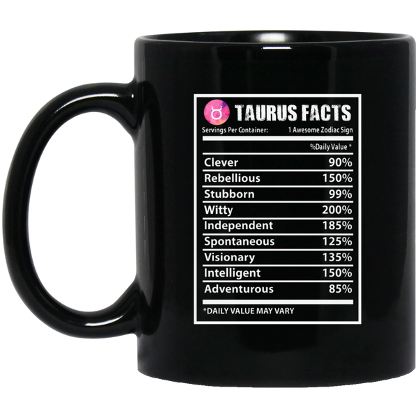 Taurus Zodiac Mug Taurus Facts Mug Taurus Mug For Girls