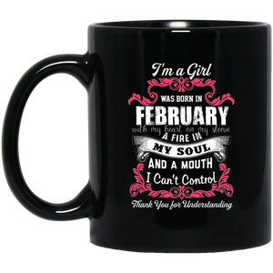 February Girl Mug I Was Born With My Heart On My Sleeve
