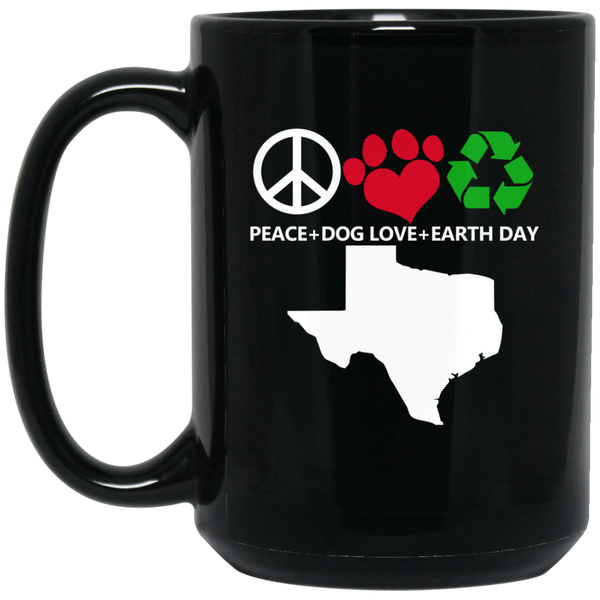 Earth Mugs Peace, Love, Earth Earth Day Mug Women Men Boy Girl