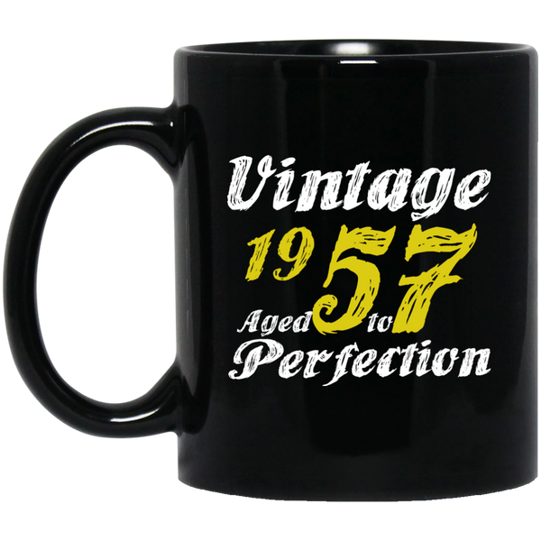 1957 Aged To Perfection Distressed 60th Birthday Gift Mug