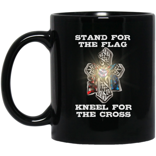 Stand For The Flag Kneel For The Cross Mug