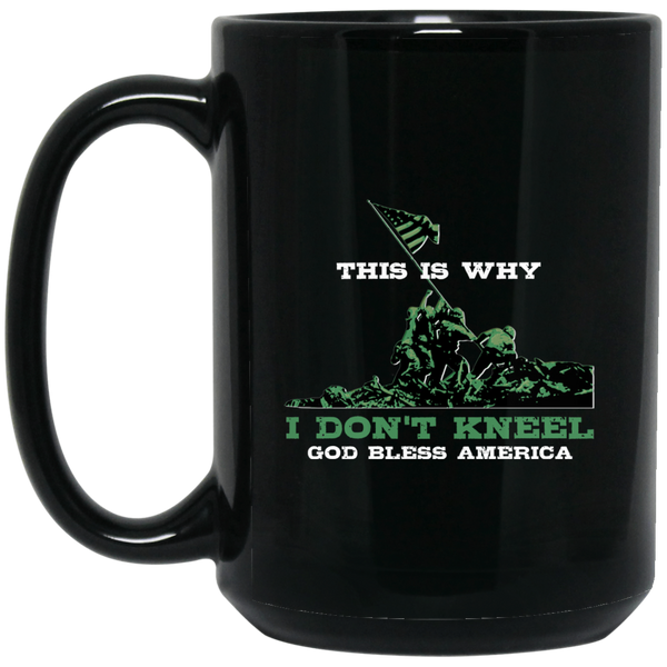 God Bless America Mug I Don' Kneel