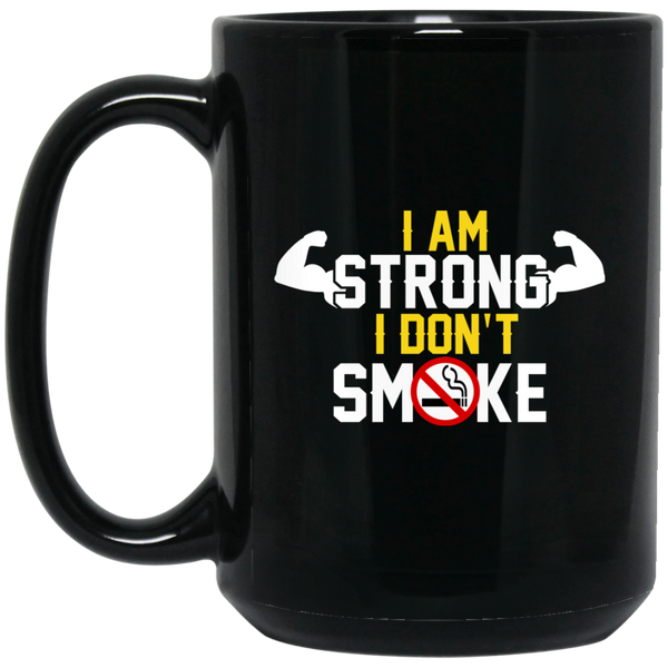 Strong People Mug Strong People Don't Smoke