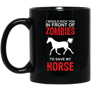 Zombies To Save My Horse Mugs Horse Christmas Mugs For Women