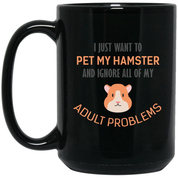 Vintage Style Hamster Mug I Just Want To Pet All The Animals