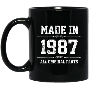 Made In 1987 All Original Parts Birthday Men's Mug