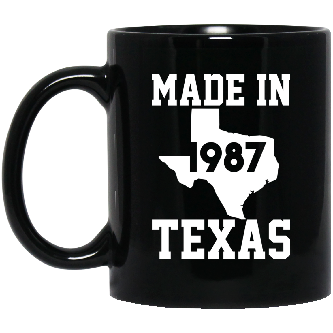 1987 Birthday Gifts Made In 1987 Mug Texas Map Mug