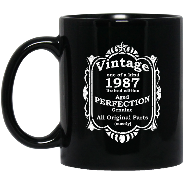 Born In 1987 All Original Parts Mug 1987