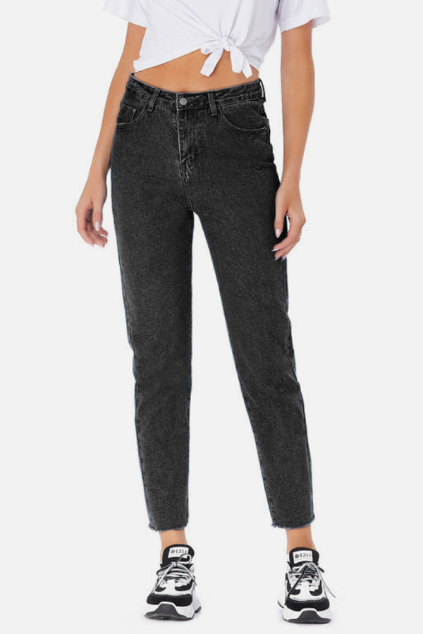 Ankle Cut Mom Jeans