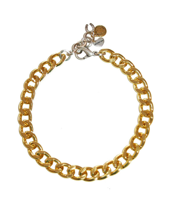 Gold Chain Choker With Charms