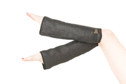 Coated wool legwarmers