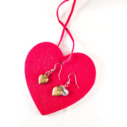 Bronze Heart Charms Earrings