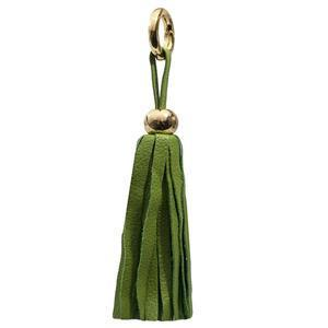 Leather Tassel - Lime Green/Gold