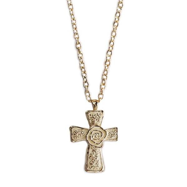 The Cross Necklace-White