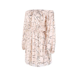 Off Shoulder Beige Sequin Play Suit