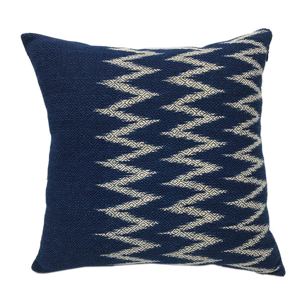 Indigo Chevron Pillow Cover