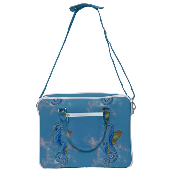 Seahorse Blue Cross Body Office Bag