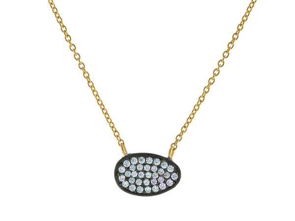 Two Tone Oval Necklace