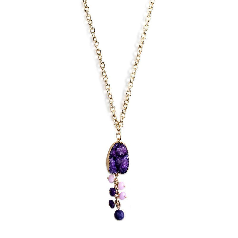 Vine Necklace- Plum