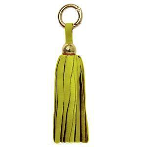 Leather Tassel -  Lemon Yellow/Gold