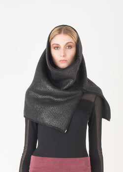 Coated wool snood