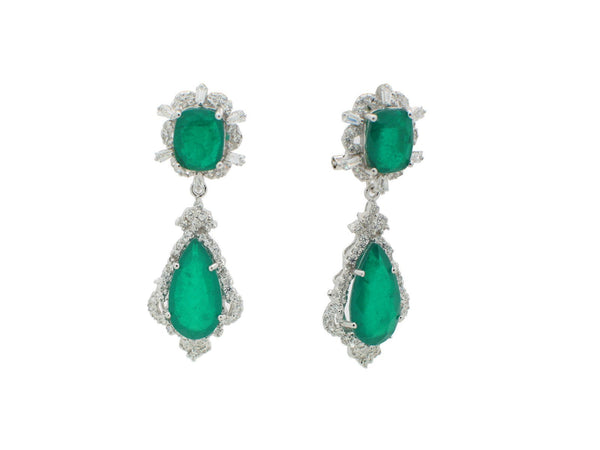 Victoria Era Emerald Doublet Earrings